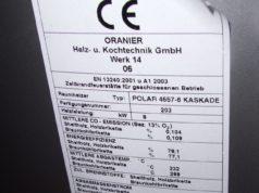 Kaminofen Typenschild Oranier Kaskade