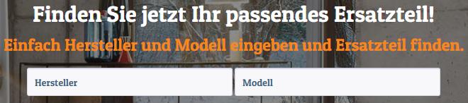 Kaminofen-Ersatzteil.de Filterfunktionen