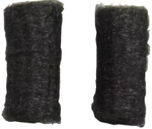 Speckstein Reparaturset = Stahlwolle