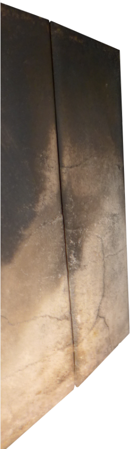 Verrußte Vermiculitesteine
