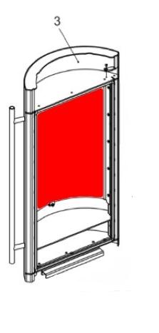 Die Sichtscheibe eines Olsberg Tipas II