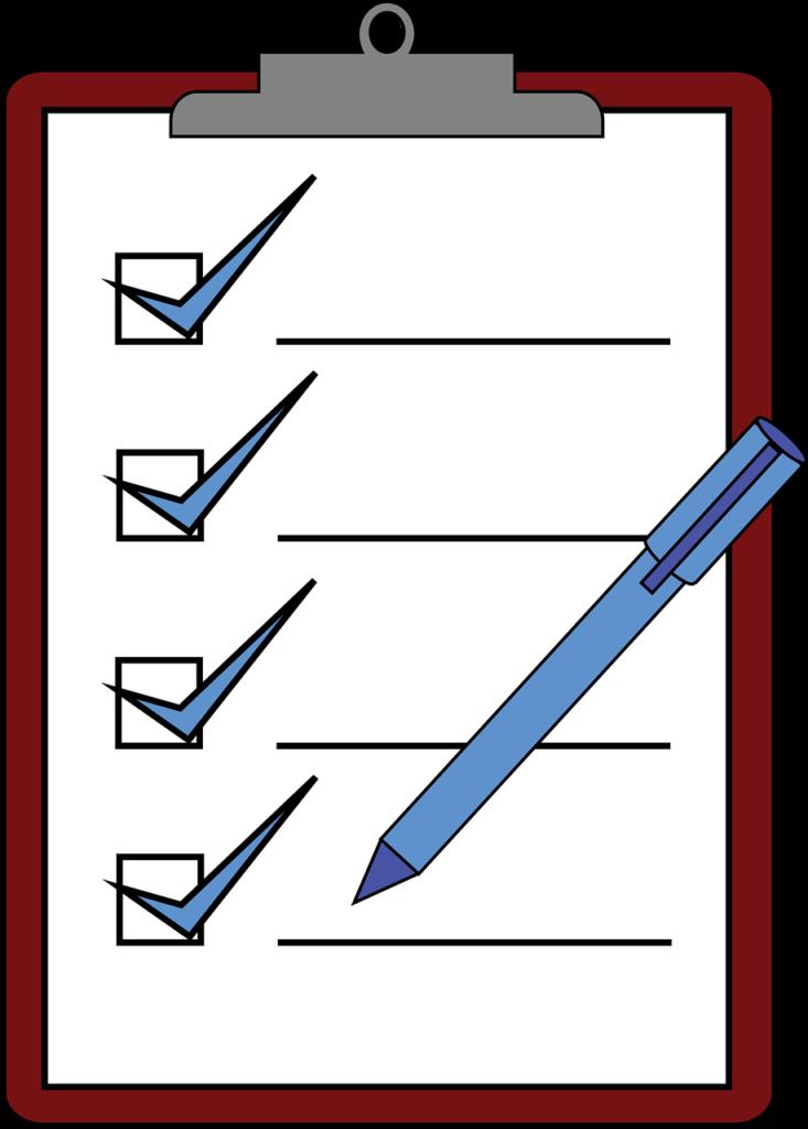Klemmbrett mit Prüfung auf CE Kennzeichnung