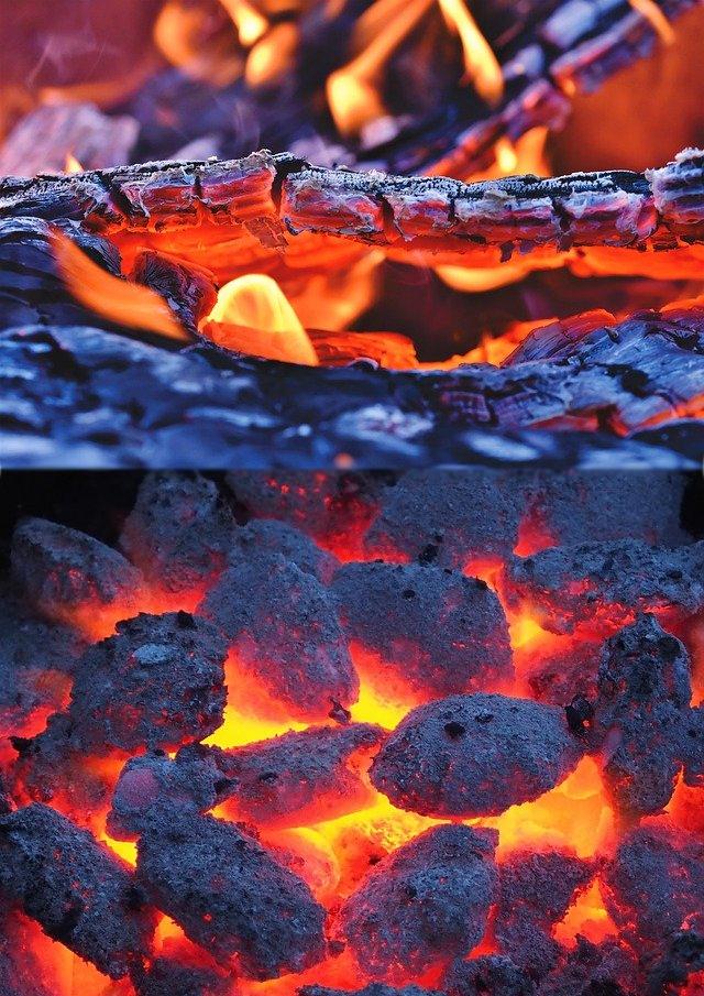 Dauerbrandofen im Kohlebetrieb und Zeitbrandofen im Scheitholzbetrieb