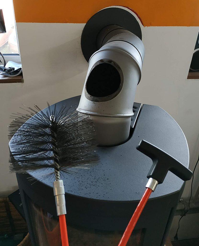 Reinigung des Rauchrohres - Rohr-Reinigungsset