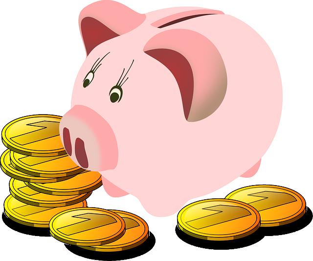 CO2 neutral Heizen kann bares Geld sparen! - Sparschwein mit Münzen