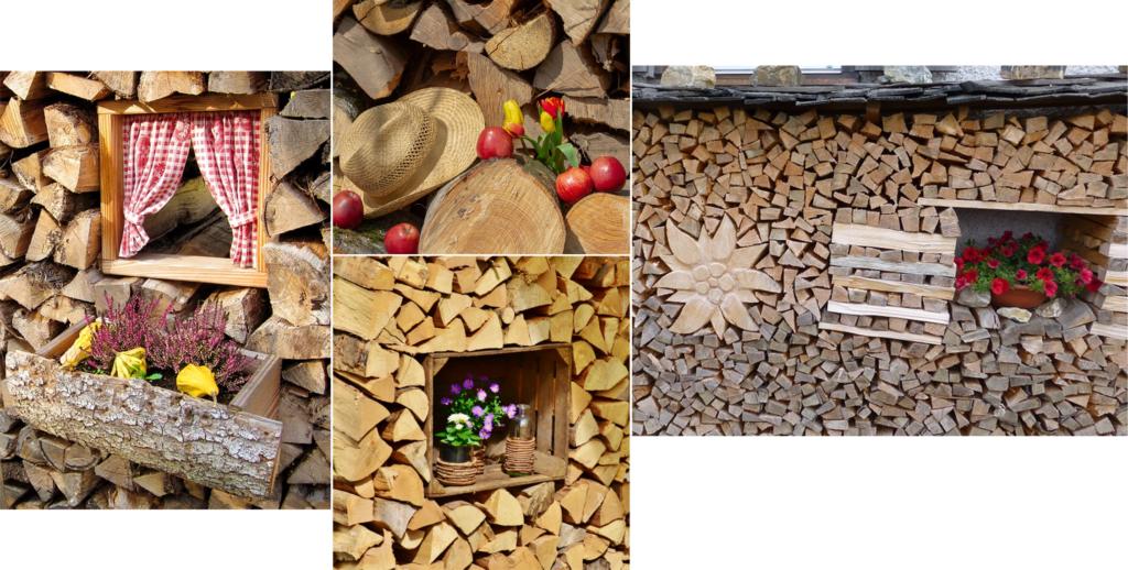 Dekorationsideen für die Errichtung einer Holzmiete